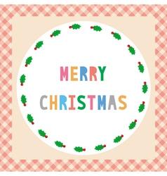 Merry Christmas greeting card45 vector image