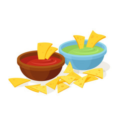 Nachos mexican food vector