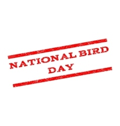 National Bird Day Watermark Stamp vector image