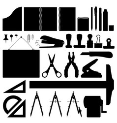 office stationery set stationery set vector image