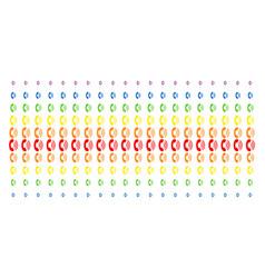 Phone ring shape halftone spectrum effect vector