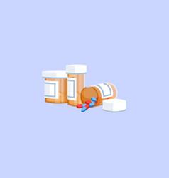 Pills semi flat rgb color vector