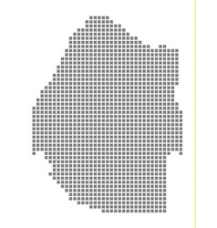 Pixel map of swaziland dotted map of swaziland vector