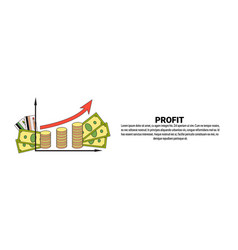 profit money growth finance success business vector image