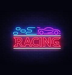 racing sign design template street racing vector image