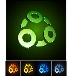 Rings vibrant emblems vector