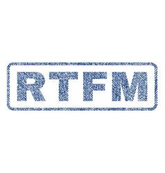 rtfm textile stamp vector image