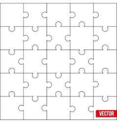 Sample square puzzle blank template or cutting vector