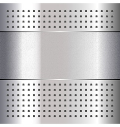 Scratched on chrome metal background 10eps vector image