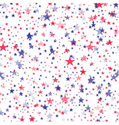 seamless pattern with blue and red stars vector image