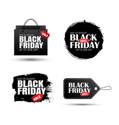 set black friday sale abstract banner vector image