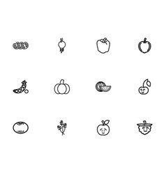 Set of 12 editable cooking outline icons includes vector