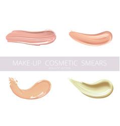 Set of cosmetic liquid foundation or caramel cream vector
