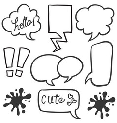 Set of text balloon style art vector