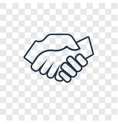 shake hands concept linear icon isolated on vector image