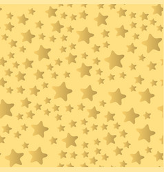 Shiny stars style seamless pattern pentagonal gold vector