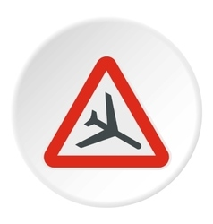 Sign airport icon flat style vector