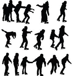 Skating silhouette vector