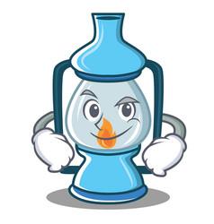 Smirking lantern character cartoon style vector