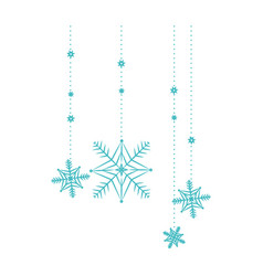 snow flakes hanging isolated icon vector image