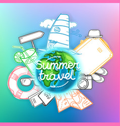 summer travel banner travel concept vector image