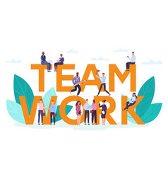 Teamwork motivation concept creative business vector