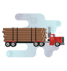 Timber carrying vessel special cargo vehicle vector
