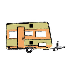 trailer camping vehicle home transport vector image vector image