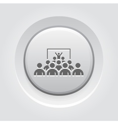 Training Icon Grey Button Design vector
