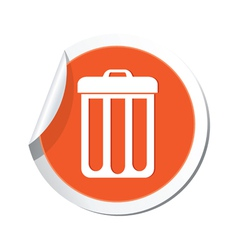 Urn ORANGE LABEL vector