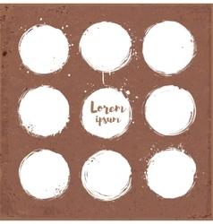 White grunge circle with splashes vector image