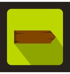Wooden signpost icon flat style vector image