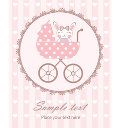 Bunny baby girl in frame vector image