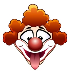 joking circus clown head vector image vector image
