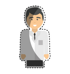 specialist professional doctor with uniform vector image vector image