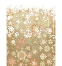 Vintage Christmas card EPS 8 vector image vector image