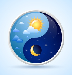 Day and night symbol vector image vector image