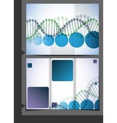 DNA Brochure Design vector image