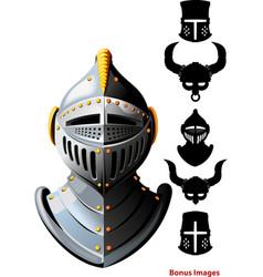 knights helmet vector image vector image
