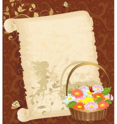 old greeting paper vector image vector image