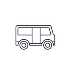 passenger bus thin line icon linear symbol vector image