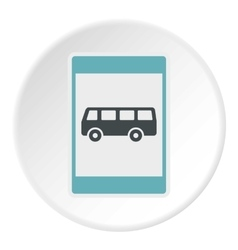 Sign bus stop icon flat style vector image vector image