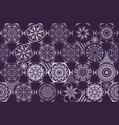 violet purple seamless ceramic tile with vector image