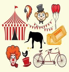 cirkus elements vector image
