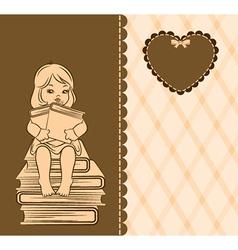 Cute baby girl vector image vector image