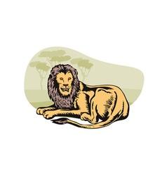 Lion Big Cat Retro vector image vector image
