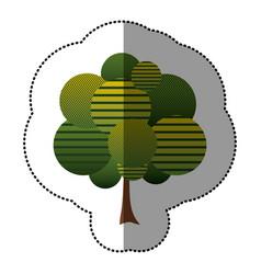 stamp tree art icon vector image