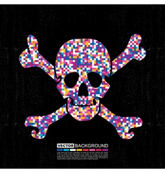 Colorful skull vector image vector image