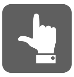 Hand pointer up flat squared icon vector