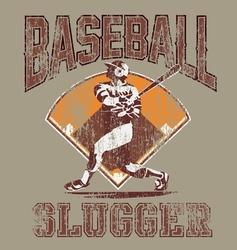 slugger baseball vector image vector image
